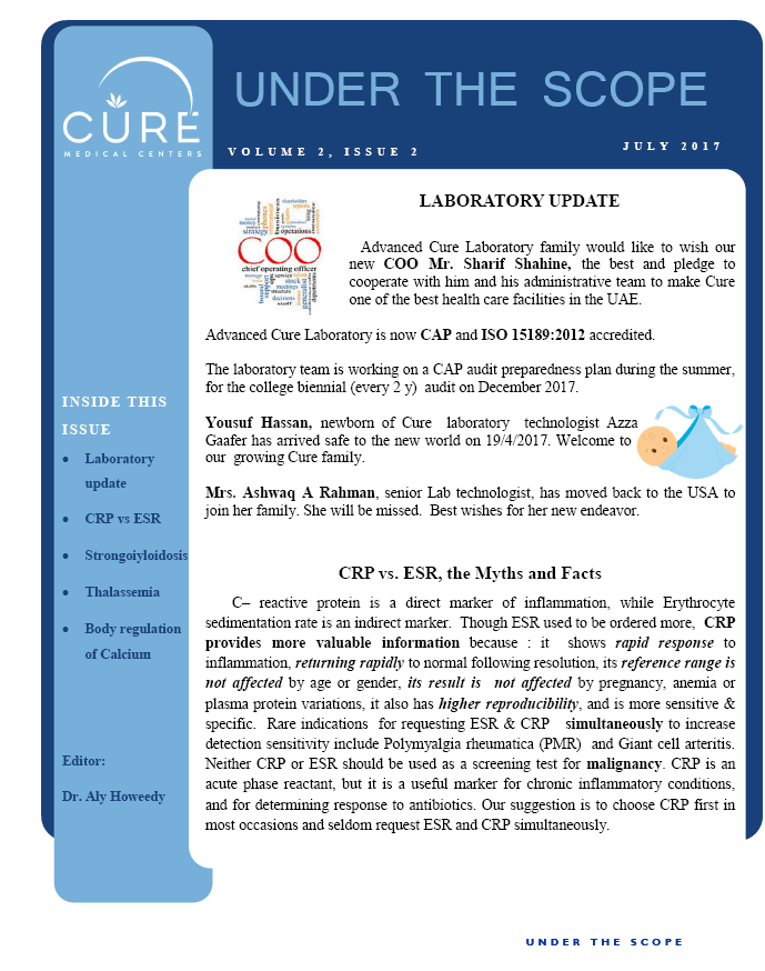 Cure Lab Newsletter for July Page1