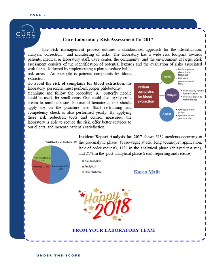 Cure Lab Newsletter for December Page3
