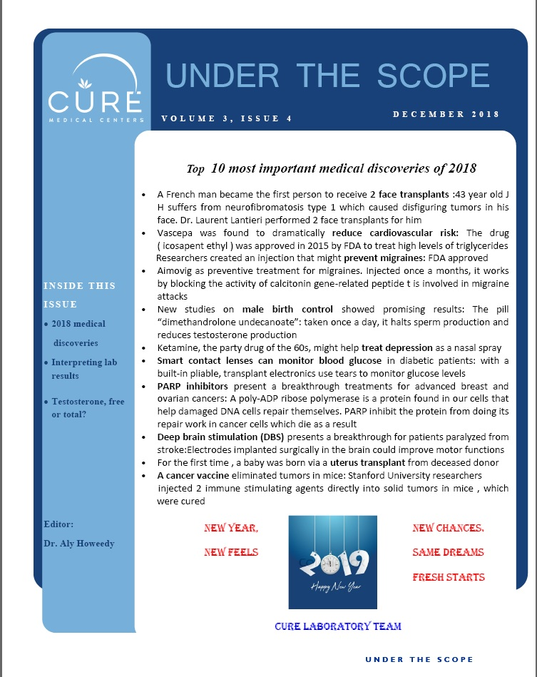 Cure Lab Newsletter for December Page1